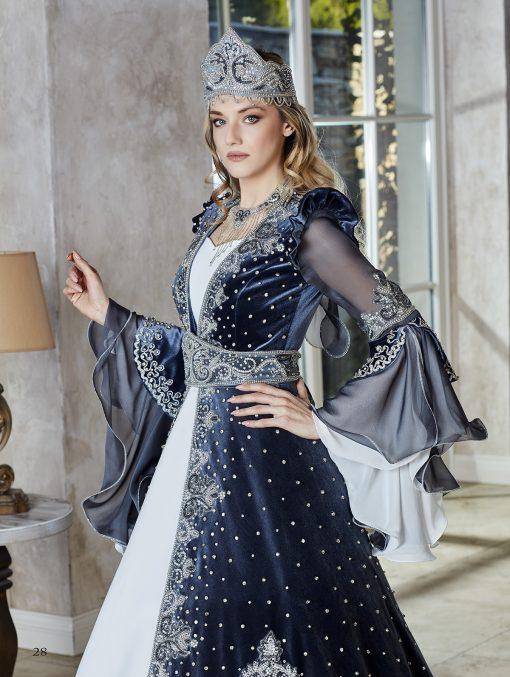 Evening Dresse Luxury Dubai Moroccan velvet floor length royal Kaftan Dress