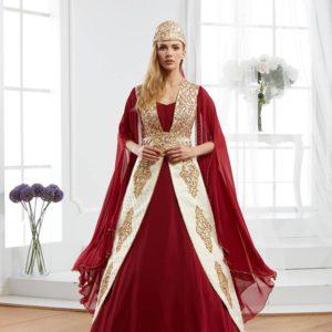 Elegant Red Caftan Set