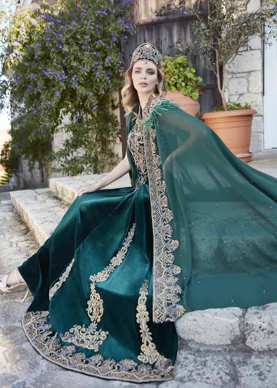 Emerald maxi evening dresses for wedding 1 950x1330 - Princess Green Kaftan Set