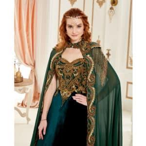 Princess Green Kaftan Set (1)