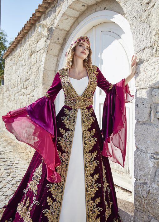 embellished wedding kaftans muslim arabic evening dresses