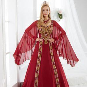 fascinating-red-kaftan-dress