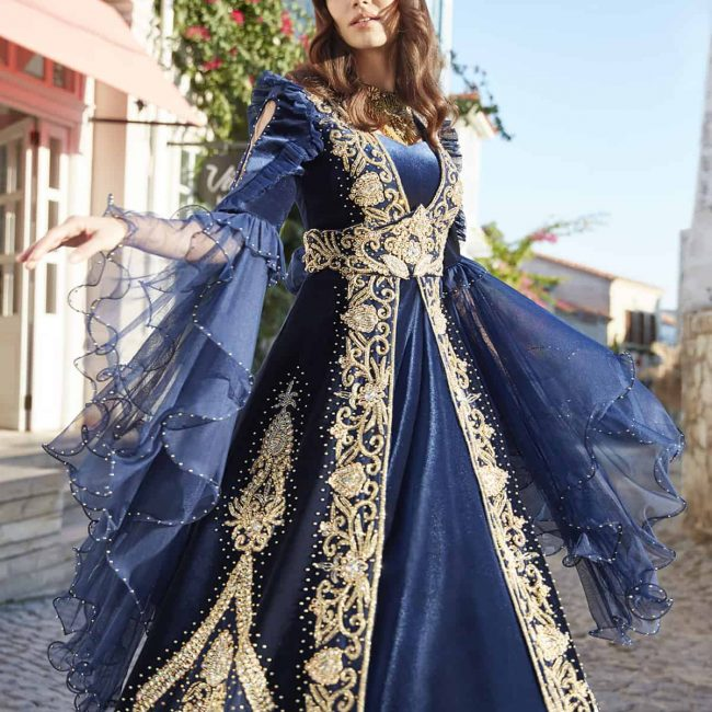 ottoman turkish muslim wedding party dresses for bride