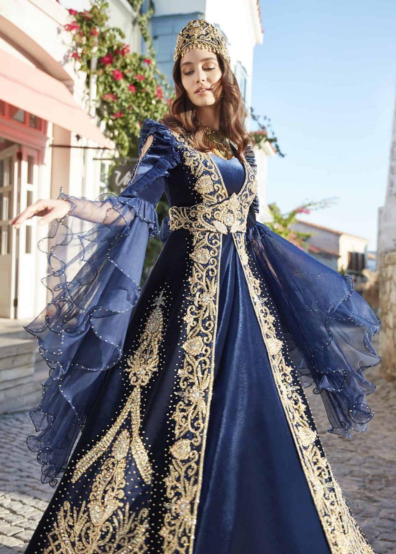 ottoman turkish muslim wedding party dresses for bride