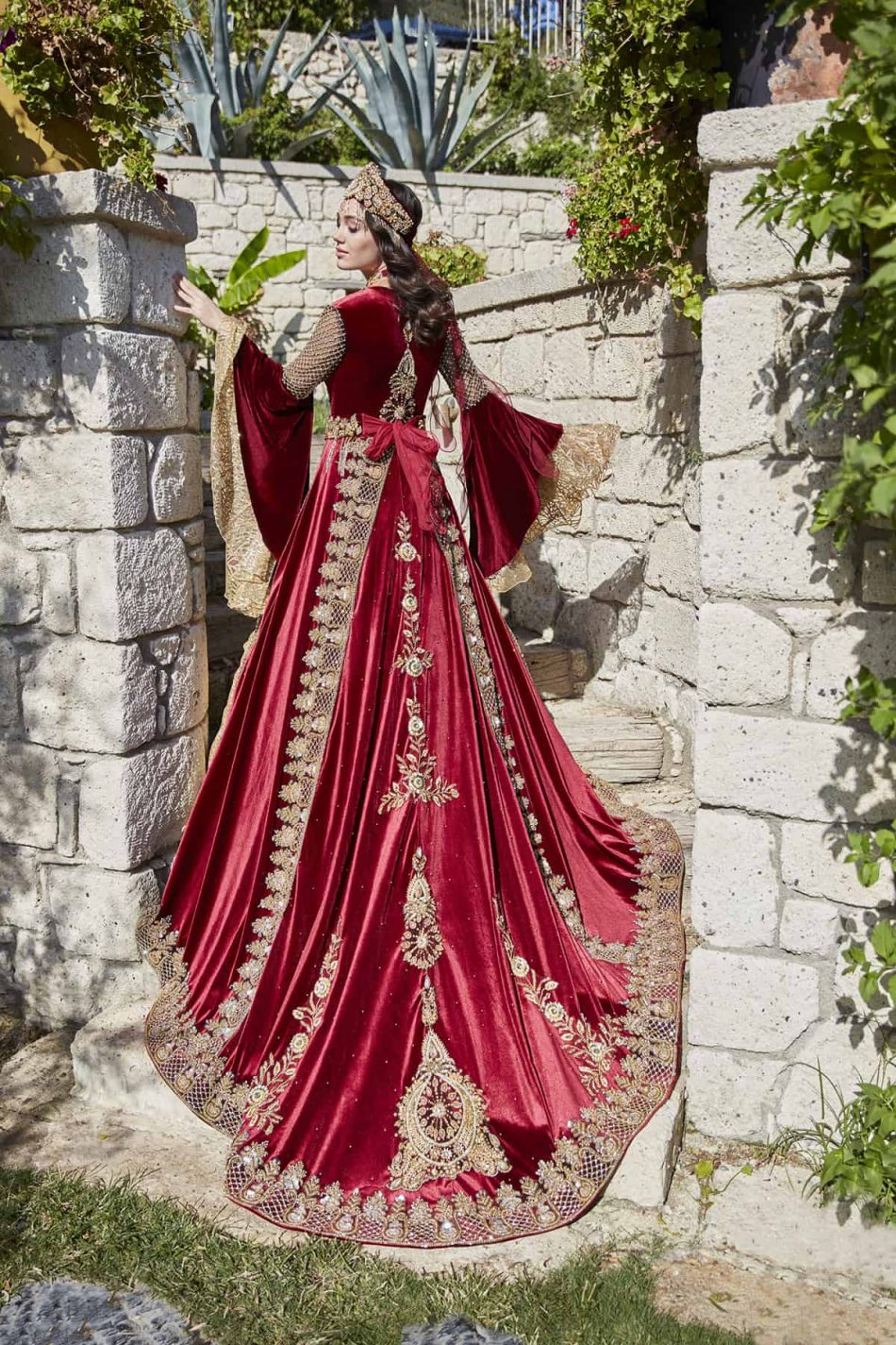 female hurrem sultan ottoman ethnic kaftan dresses