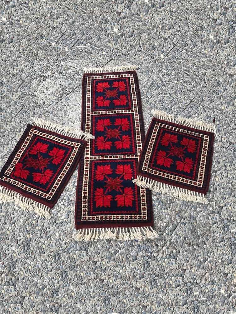 Yagci Bedir Car Rugs Set Hand Woven
