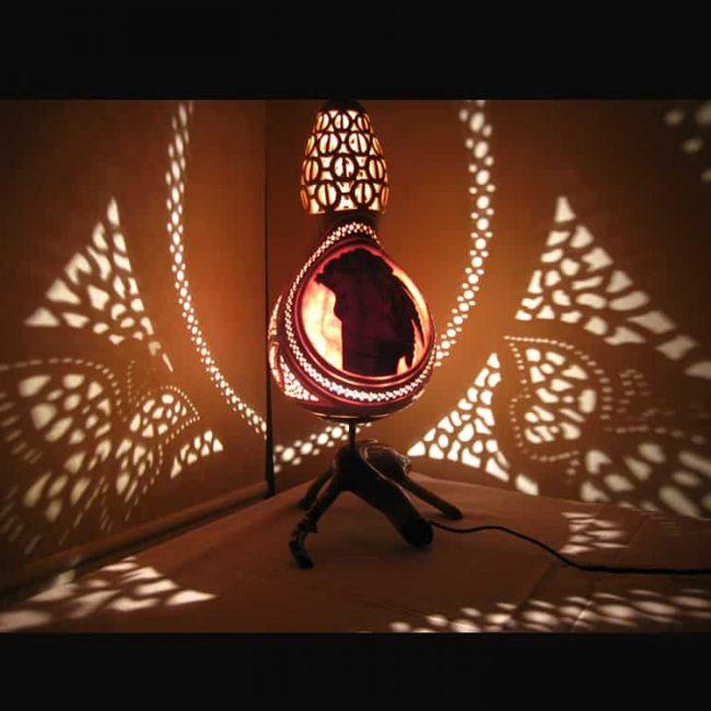 Fabulous Bridal Gourd Lampshade 9 1 650x650 - Fabulous Bridal Gourd Lampshade