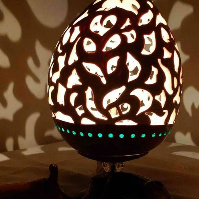 Turkeyfamousfor Amazing Carved Gourd Lampshade 7 1 650x650 - Gourd Lamps
