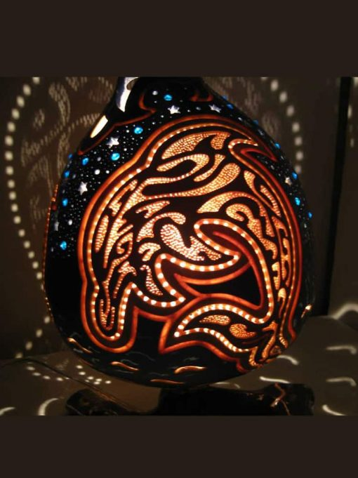 aqua-dolphin-gourd-lampshade