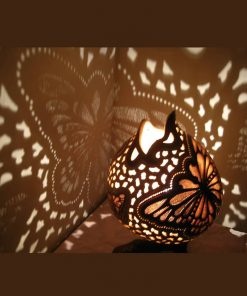 Turkeyfamousfor Butterfly Chocolate Gourd Lampshade 2 247x296 - Gourd Lamps