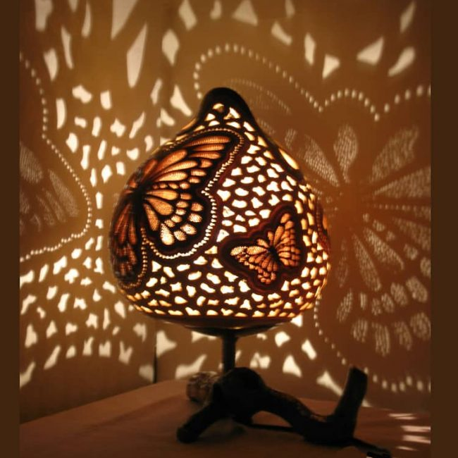 Turkeyfamousfor Butterfly Chocolate Gourd Lampshade 4 1 650x650 - Gourd Lamps