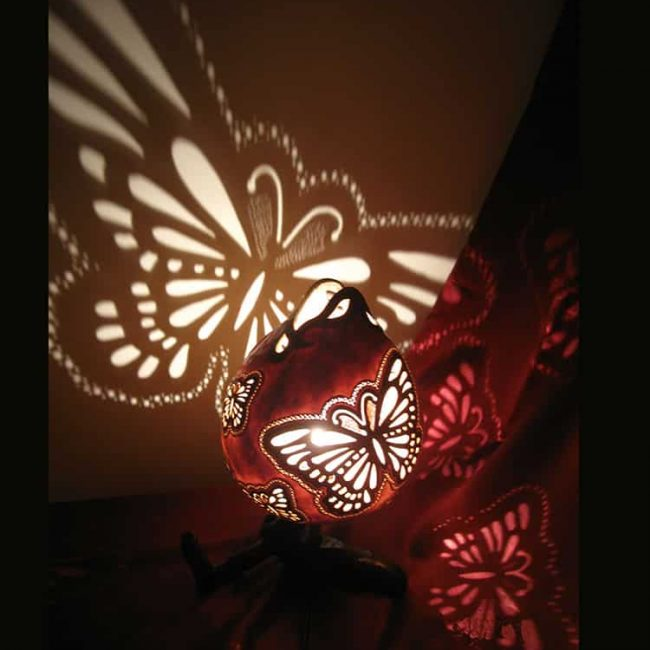 Turkeyfamousfor Butterfly Smile Gourd Lampshade 1 1 650x650 - Butterfly Smile Gourd Lampshade