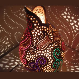 ethnical-gourd-lampshade-best gourd lamps-unique gourd lamp