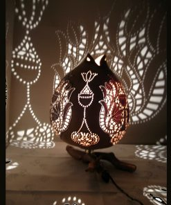 Turkeyfamousfor Hand carved Gourd Lampshade 2 1 247x296 - Hand carved Gourd Lampshade