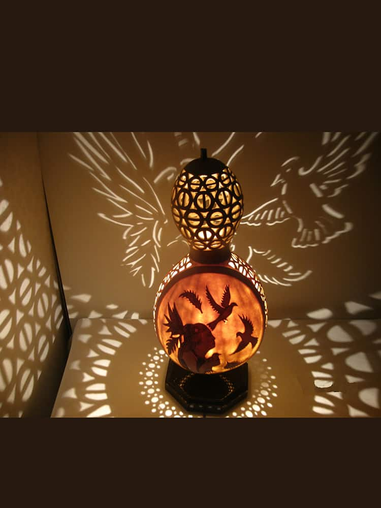 Turkeyfamousfor Indian Girl Gourd Lampshade 10 1 - Gourd Lamps