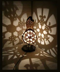 irish-gourd-lampshade-best handmade gourd lamps- exotic-handmade-gourd art