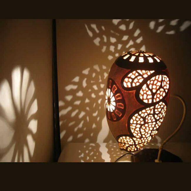 magic shadows gourd lampshade
