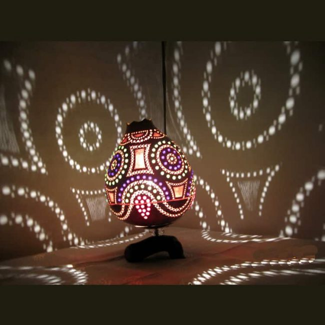 rounded-shape-gourd-lampshade