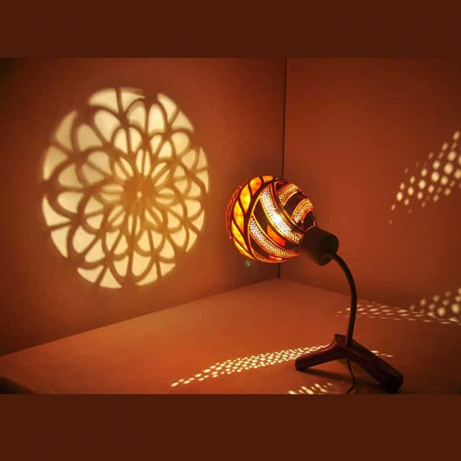Turkeyfamousfor Sculptural Gourd Lampshade 2 1 650x650 - Home