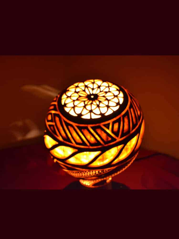 Turkeyfamousfor Sculptural Gourd Lampshade 4 1 - Sculptural Gourd Lampshade Turkish Gourd Lights