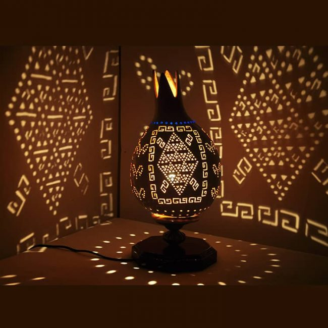 Turkeyfamousfor Turkish Motives Gourd Lampshade 3 1 650x650 - Gourd Lamps