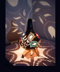 decorative-tulip-pattern-gourd-lampshade
