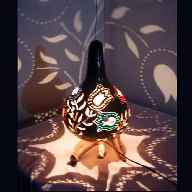 decorative-tulip-pattern-gourd-lampshade
