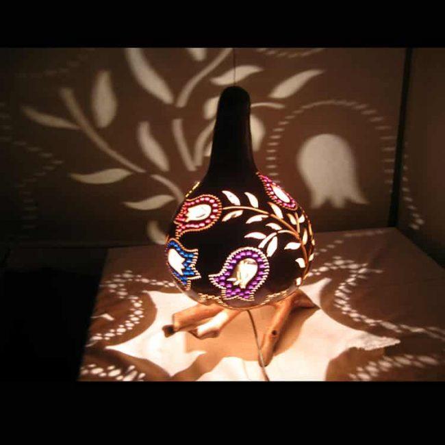 turkeyfamousfor Decorative Tulip Pattern Gourd Lampshade 2 1 650x650 - Decorative Tulip Pattern Gourd Lampshade Calabash Lights