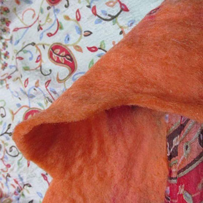 IMG 0287 650x650 - Nuno Felted Scarf Orange