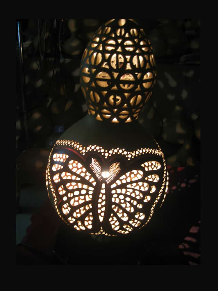 Turkeyfamousfor Butterfly Effect Gourd Lampshade 1 - Gourd Lamps