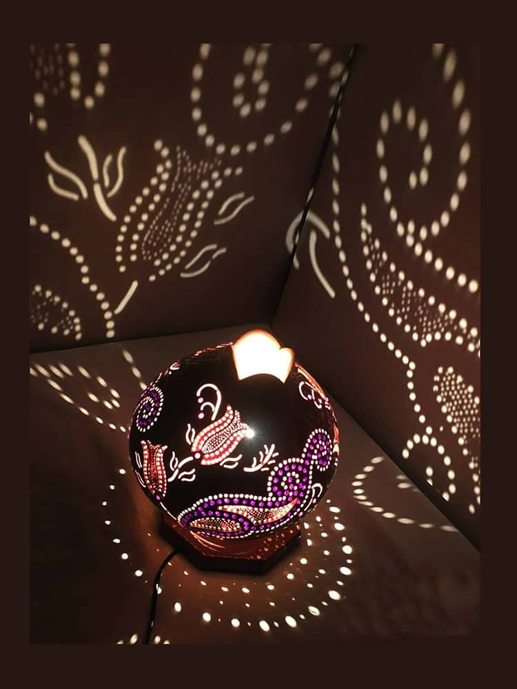Turkeyfamousfor Stunning Tulip Gourd Lampshade - Gourd Lamps