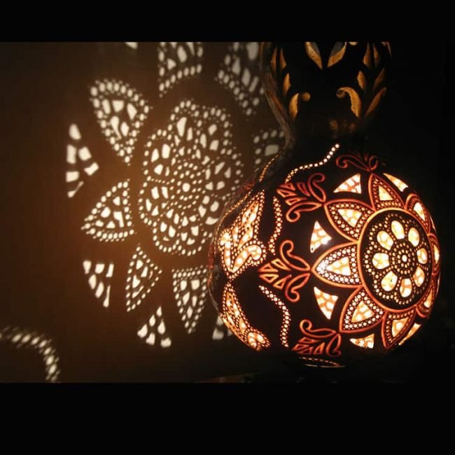 artistic carved gourd lampshade 1 650x650 - Gourd Lamps