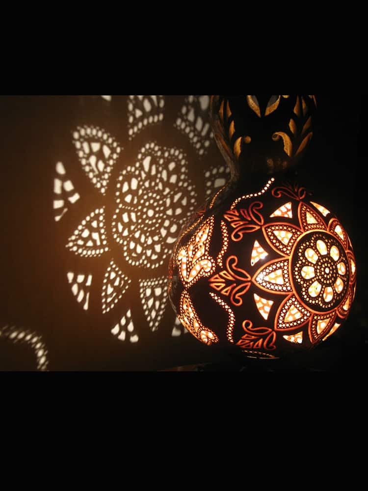 artistic carved gourd lampshade 1 - Gourd Lamps