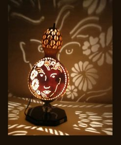 free-girl-gourd-lampshade-gourd lamps-unique gourd-best gourd lamps-natural gourds