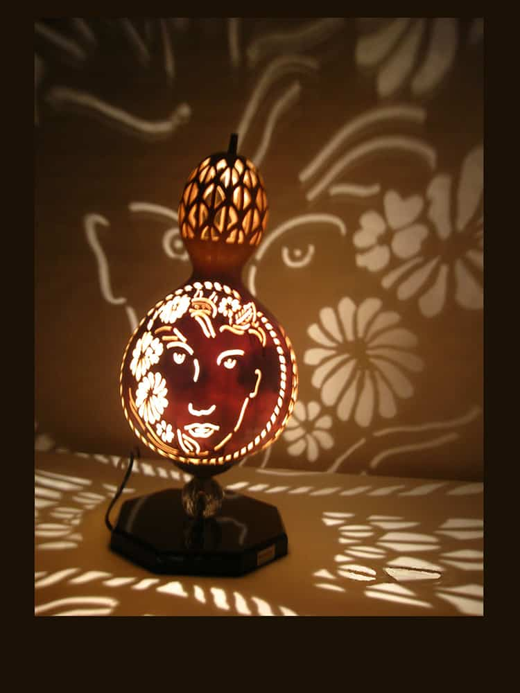 free girl gourd lampshade 3 - Gourd Lamps