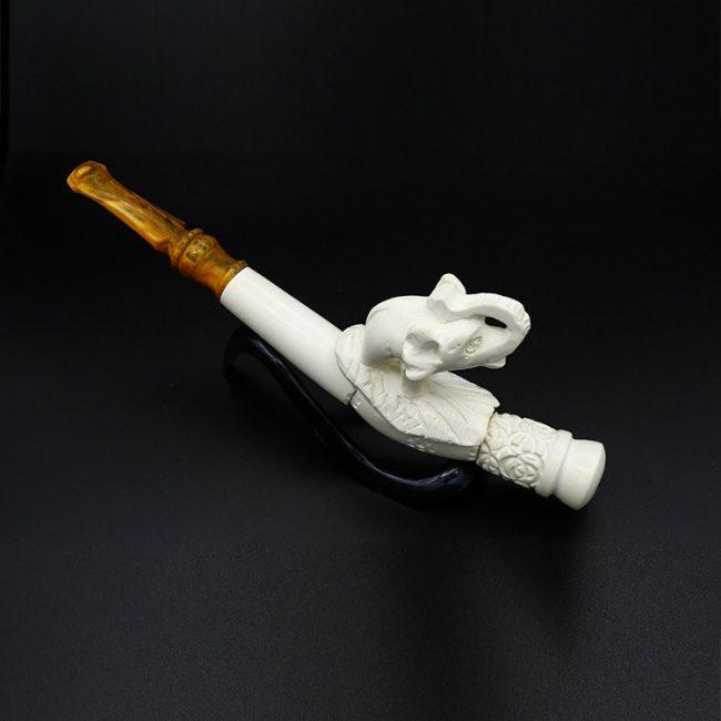 meerschaum cigarette holder an elephant new 2 650x650 - Meerschaum Cigarette Holder An Elephant