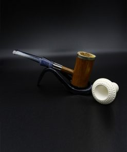 meerschaum pipe bamboo brown hand carved 1 1 247x296 - Meerschaum Pipe Bamboo Brown Hand Carved