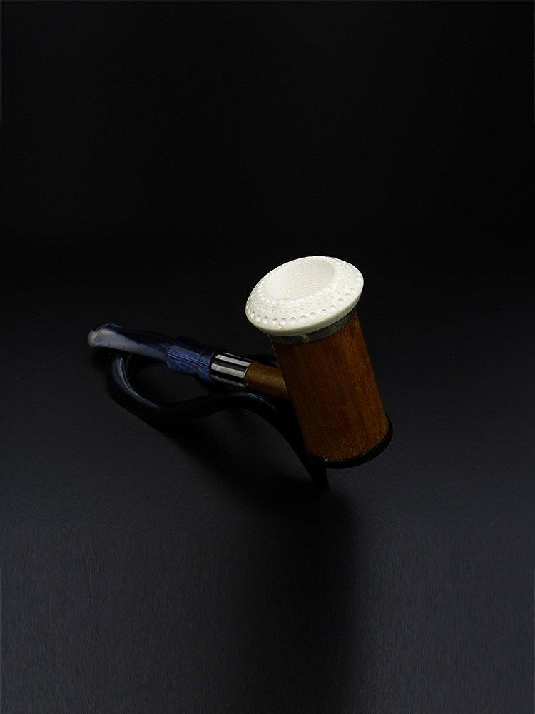 meerschaum pipe bamboo dark brown - Meerschaum Pipe Bamboo Dark Brown