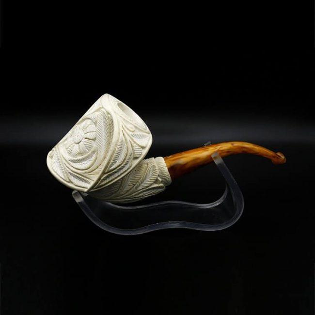 meerschaum pipe floralli hand carved new 2 650x650 - Meerschaum Pipe Floralli Hand Carved