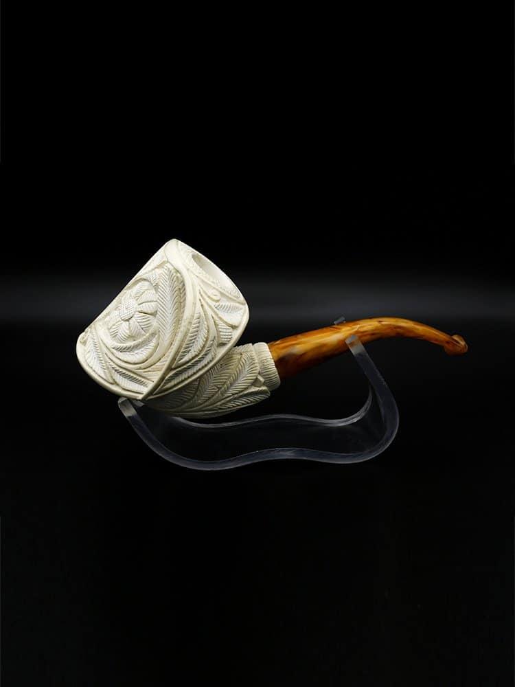 meerschaum pipe floralli hand carved new 2 - Meerschaum Pipe Floralli Hand Carved