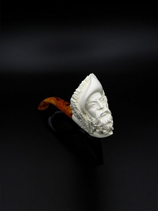 meerschaum pipe loyal man hand carved new 1 510x680 - Meerschaum Pipe Loyal Man Hand Carved