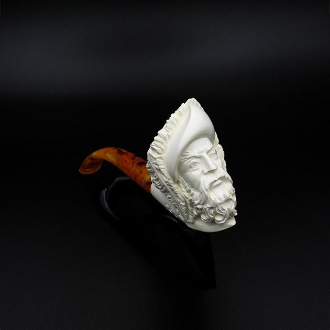 meerschaum pipe loyal man hand carved new 1 650x650 - Meerschaum Pipe Loyal Man Hand Carved