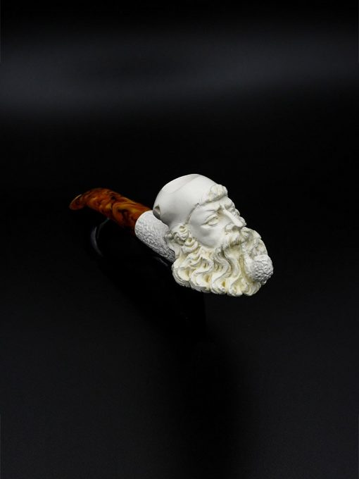 meerschaum pipe old man hand carved new 1 510x680 - Meerschaum Pipe Old Man Hand Carved