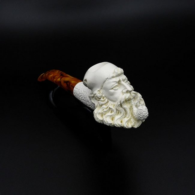 meerschaum pipe old man hand carved new 1 650x650 - Meerschaum Pipe Old Man Hand Carved