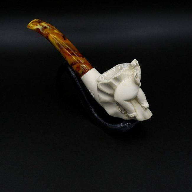 meerschaum pipe small elephant hand carved 2 new 1 650x650 - Meerschaum Pipe Small Elephant Hand Carved