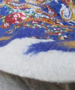 nuno felted placemat blue waves 1 247x296 - Nuno Felted Placemat Blue Waves