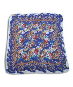 nuno-felted-placemat-blue-waves-wet felting-needle felting-traditional handmade gift shop-fine art