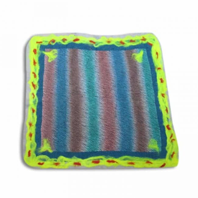 nuno-felted-placemat-ocean-stripes-nuno felted scarves-perfect handmade gifts-wet felting