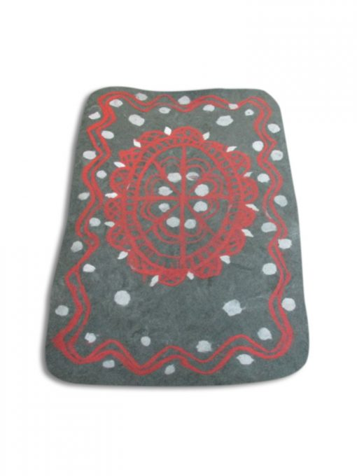 felted rug red