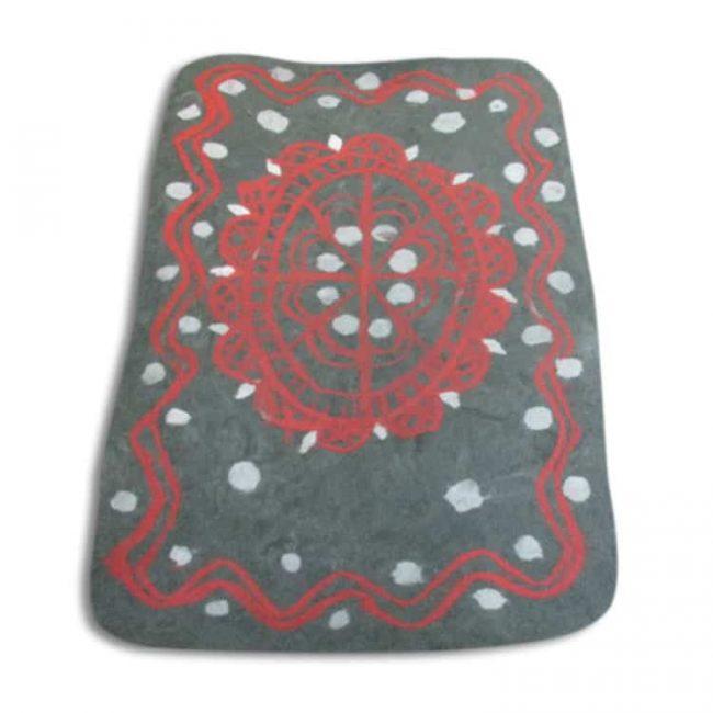felted rug red